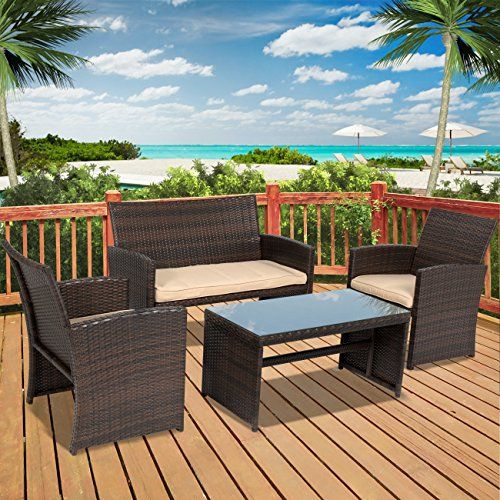 Best Choice Products presents this brand new 4 Piece Wicker ...