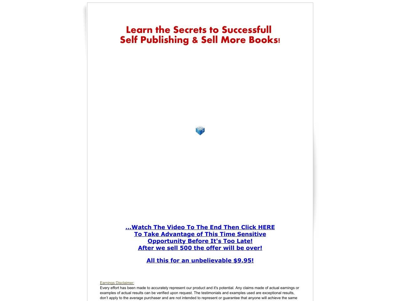 Learn The Secrets To Successful Self Publishing Sell More Books