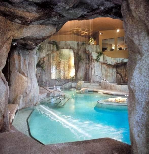 Underground Cave Home. The Grotto Spa at Tigh Na Mara  Vancouver Island British Columbia a my future in house underground cave pool Gorgeous For more Home Decorating Designing Ideas Visit us www