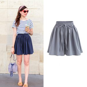 High Waist Loose Chiffon Shorts - BeFashionova