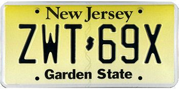 This is the official license plate for the state of new for Motor vehicle trenton nj number