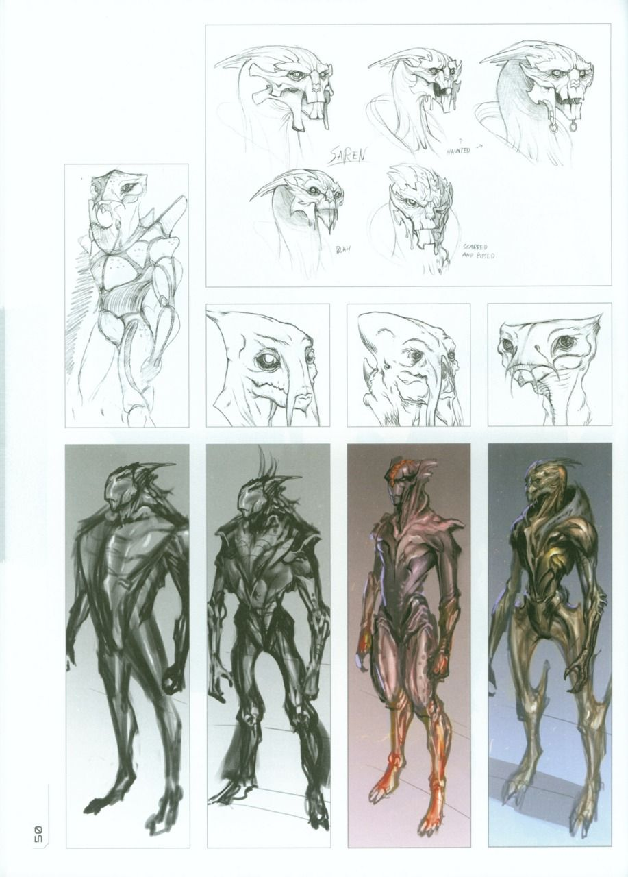 Preliminary Turian Conceptsdesigns Im Glad They Went With The