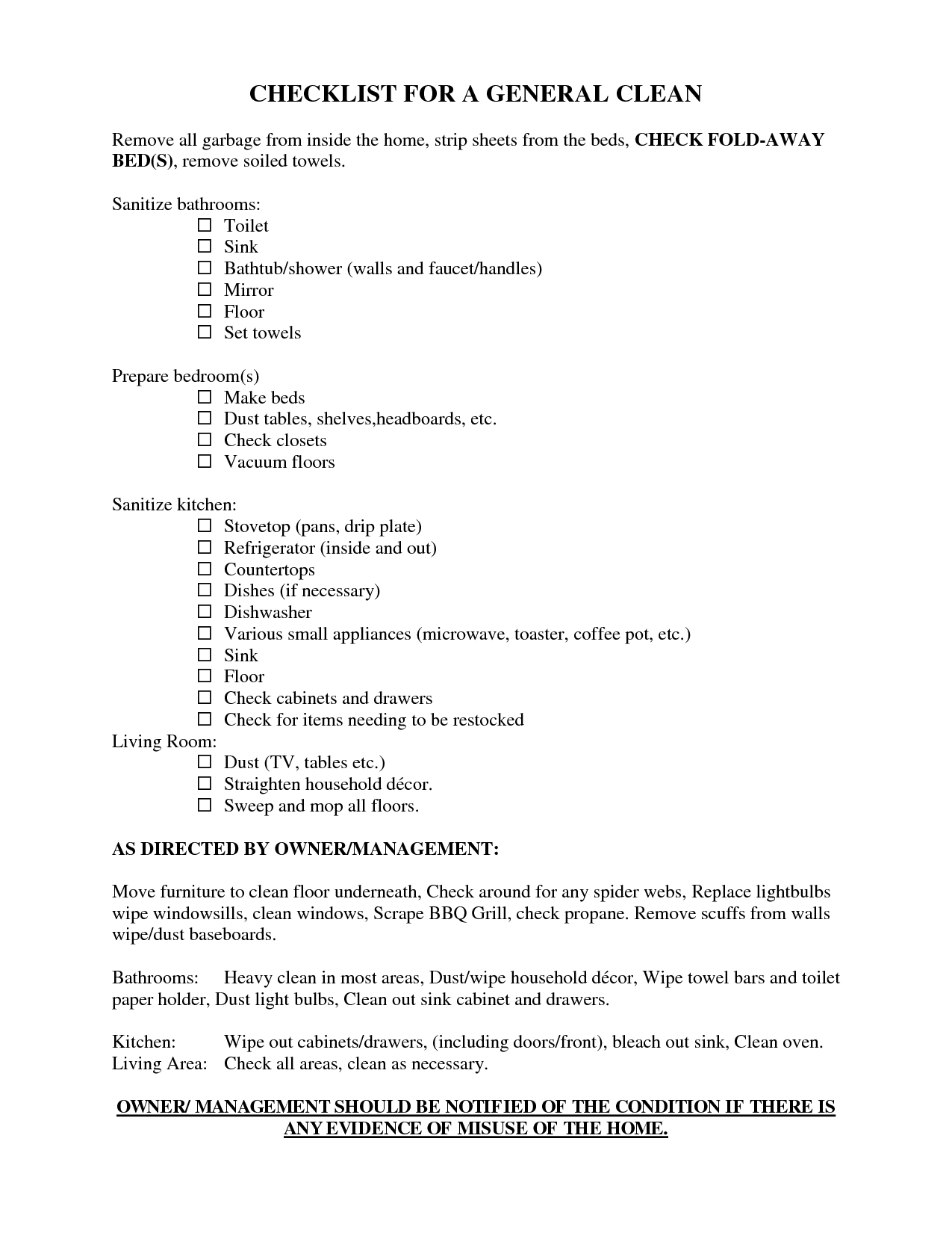 Scope Of Work Template  Housekeeping    Template And