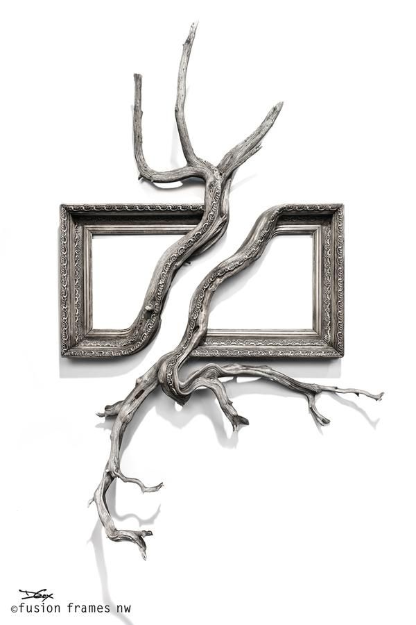 Fusion Frames NW, making distinct Fusion Frame tree branch art since 2011. A reclaimed tree branch, a re-purposed frame, and my passion — Darryl Cox, Jr.