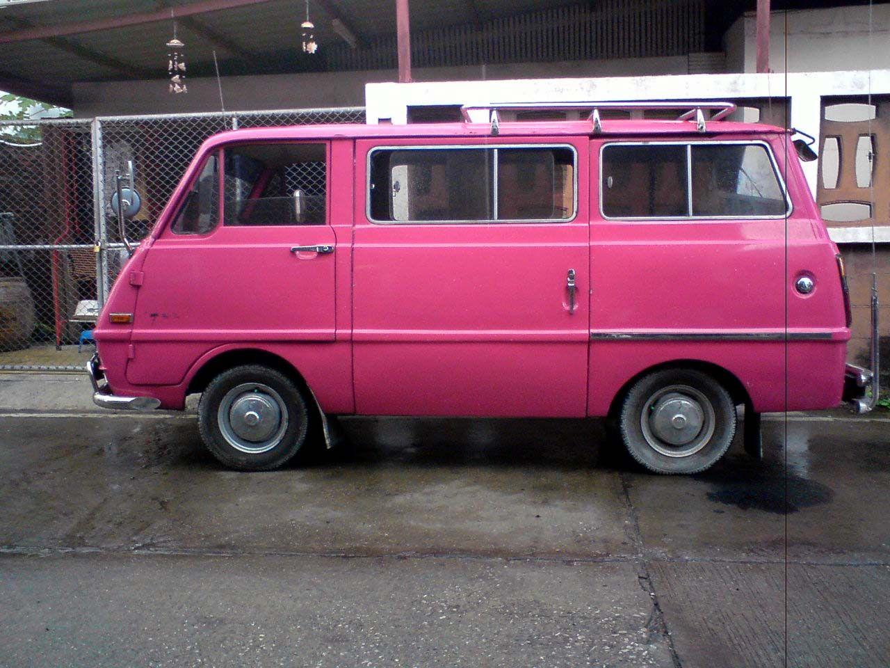 3a7149b2f7 classic Mazda Bongo  pink  van  bus  camper  roadtrip  wanderlust ...