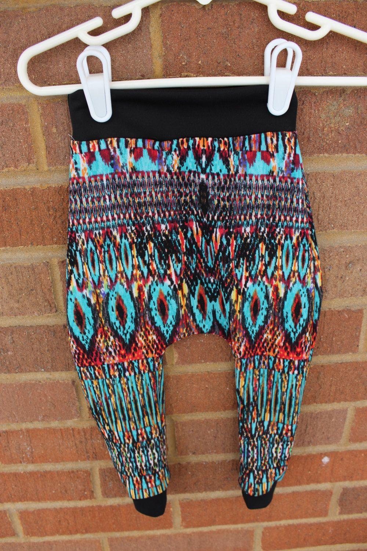 Colorful Tribal baby leggings, baby boy leggings, baby girl leggings, hipster baby leggings, trendy baby leggings, fashionable baby leggings by LittleIvieRose on Etsy