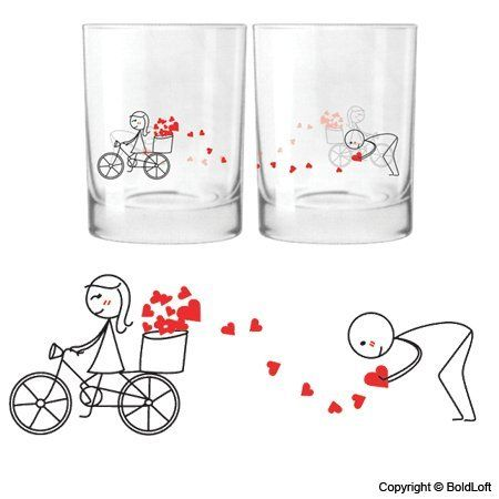 Boldloft All My Love For You Drinking Gl Set Ideal Anniversary Gifts Birthday Wedding Valentine Him Or Her