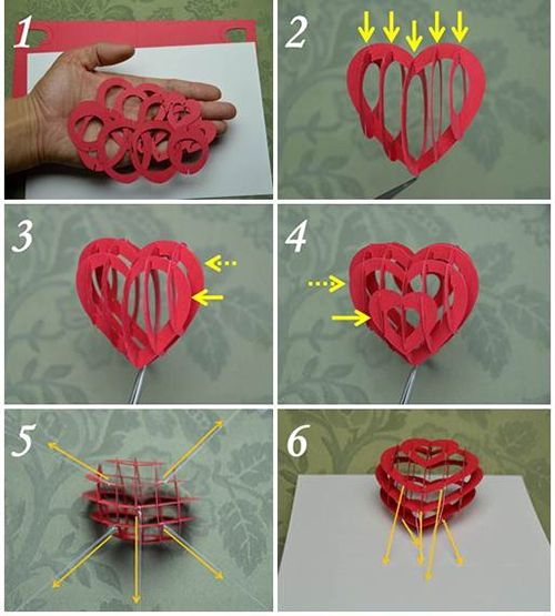 Valentines Day Popup Card 3D Heart Detailed Tutorial – Valentines Pop Up Card