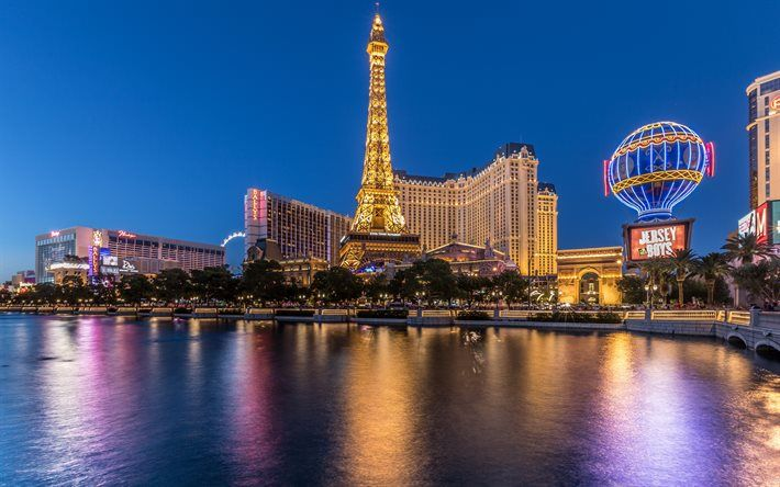 Las Vegas, Eiffel Tower, casino, United States, Nevada