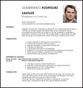 Operario Modelos De Curriculum Vitae Curriculum Vitae Ingeniero