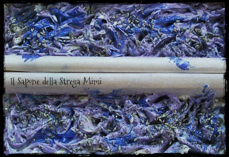"""Il Sapone di Mimi: """"Violet Moon"""" Sapone alla Lavanda, nello stampo.  Painting with my soap"""