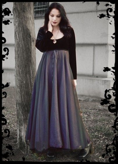 Goth Wedding Dress Empire Waist