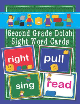 lego dolch second 2nd grade sight words flash cards letters and numbers
