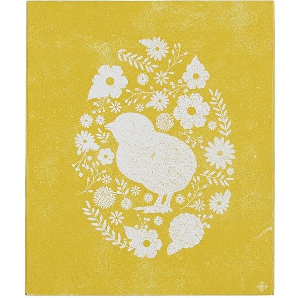 Pier 1 Imports Yellow Egg Silhouette Wall Decor ($7.96) ❤ liked on ...