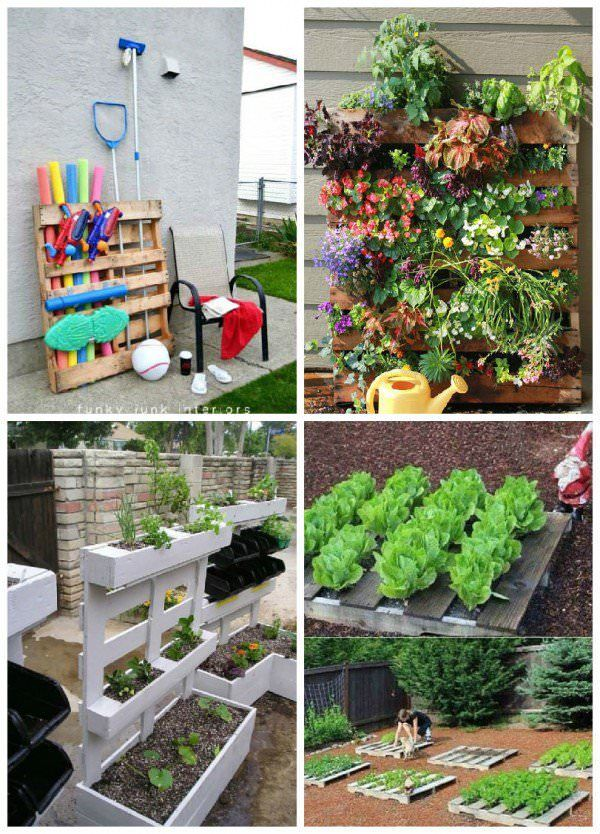 Easy Pallet Ideas For Your Garden Or Balcony สวนผ ก