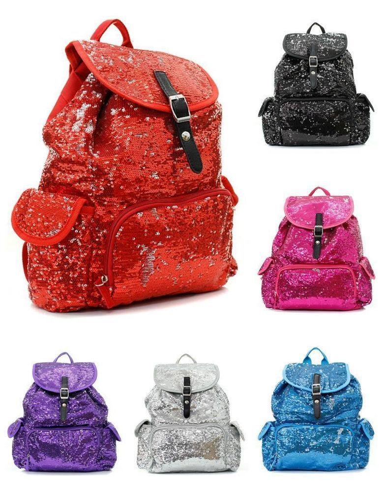 14 Glitter Sequin Backpack Sparkle Bling Bookbag Tote Cheer Dance Bag 8 Colors Other Totebag