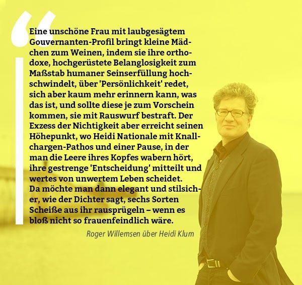 Roger Willemsen Heidi Klum