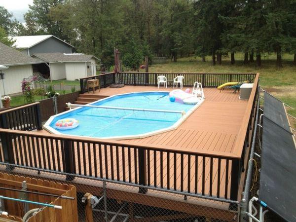 le piscine hors sol en bois 50 modles - Piscine Hors Sol Avec Terrasse