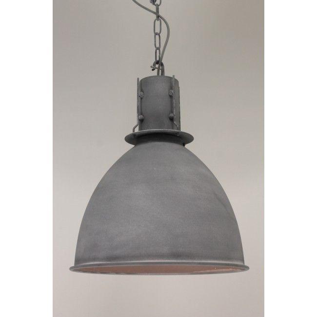1 lichts hanglamp london grijs betonlook à 42 cm keuken