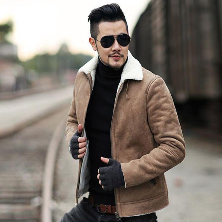 49ab9e1643e3 Men s  Winter Faux Fur  Leather  Jacket – zorket