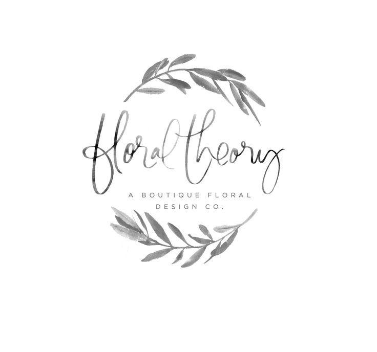 Floral Logo, Watercolor Logo
