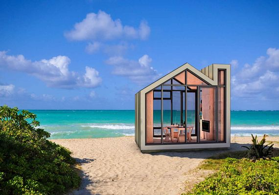 The Bunkie - 106 sqf, $25,000 - There's no building permit required to construct one of these little guys, so you can have your new beach getaway ready in just a couple days.