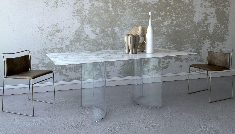 Tavolo Bianco 80x80 Allungabile.Tavolo Ta03 Piano In Marmo Calacatta Acrylic Furniture Dining