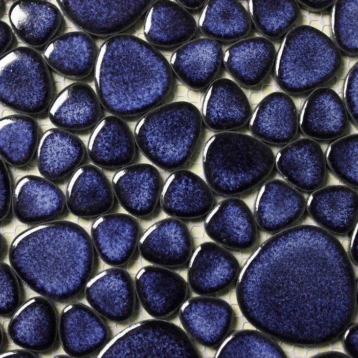 Pas cher Bleu couleur de galets en céramique carreaux ...