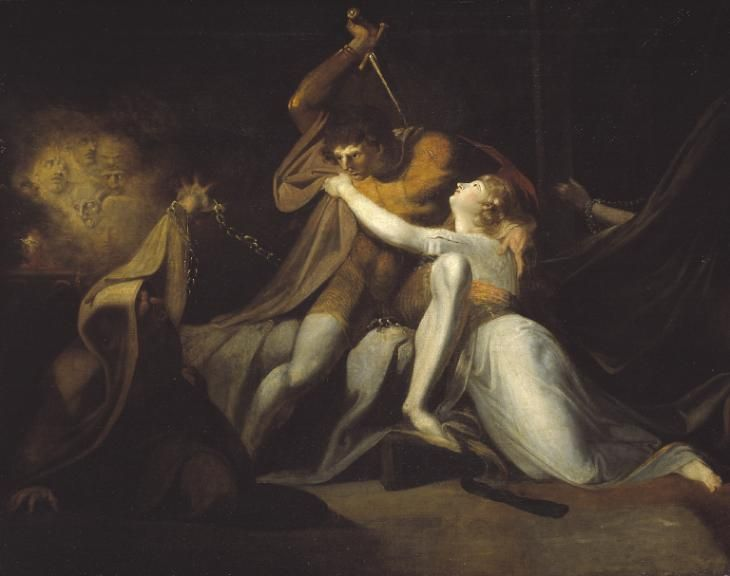 Henry Fuseli Percival Delivering Belisane from the Enchantment of Urma exhibited 1783 Oil on canvas support: 991 x 1257 mm frame: 1248 x 1510 x 108 mm Presented by the Art Fund 1941