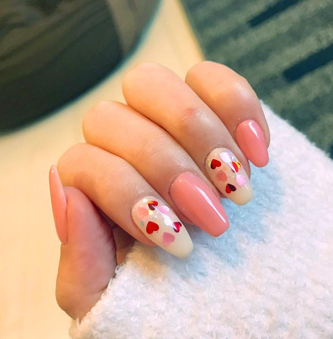 40 Heart Valentine S Day Shape Nails Art Designs Tips Colorful Nail Designs Short Nail Designs Dot Nail Art Designs