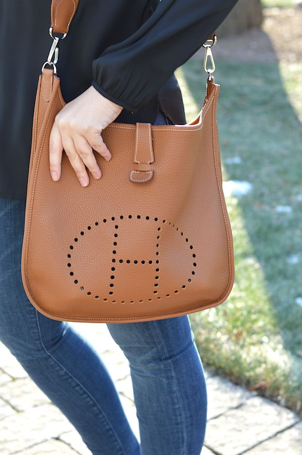 5737b1d3c429 Hermes Evelyne Bag in Brown (Tan) or Orange  Same dilemma  flip as Hermes  Constance bag