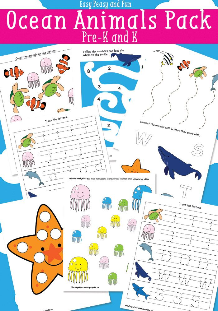 Ocean Animals Printables For Kids Ocean activities