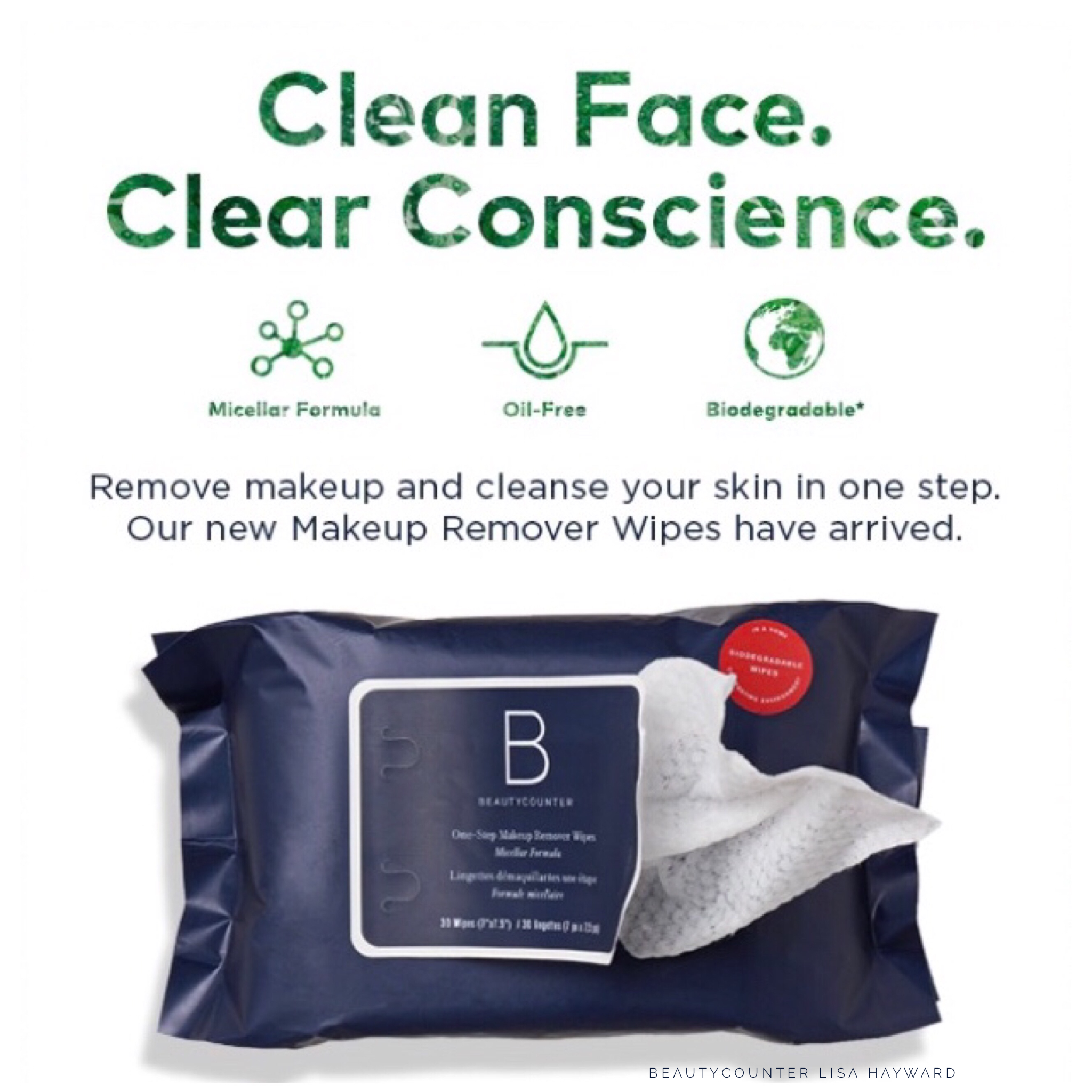 Introducing Beautycounter OneStep Makeup Remover Wipes