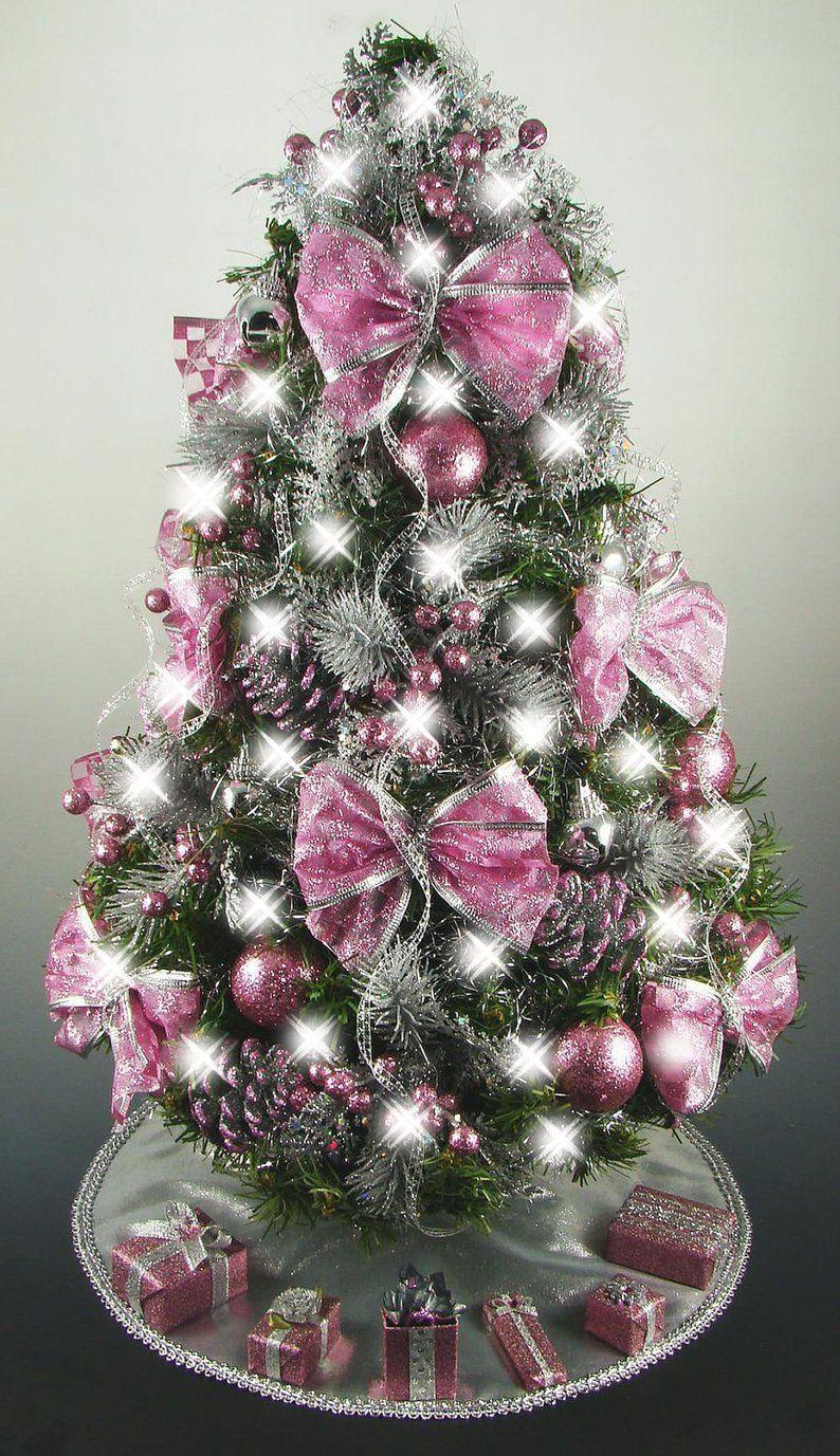 Mini Tabletop Christmas Tree Rose