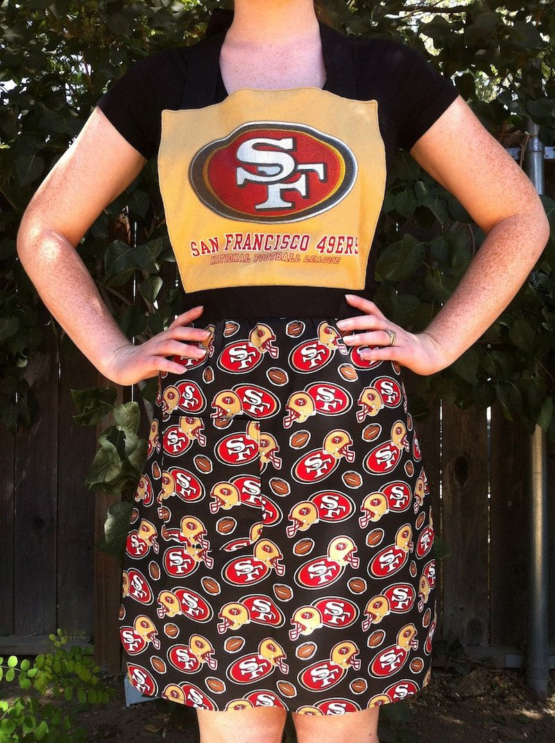 7a91cef0 Women's 49ers Recycled/Upcycled Full Apron   An Apron Addiction ...
