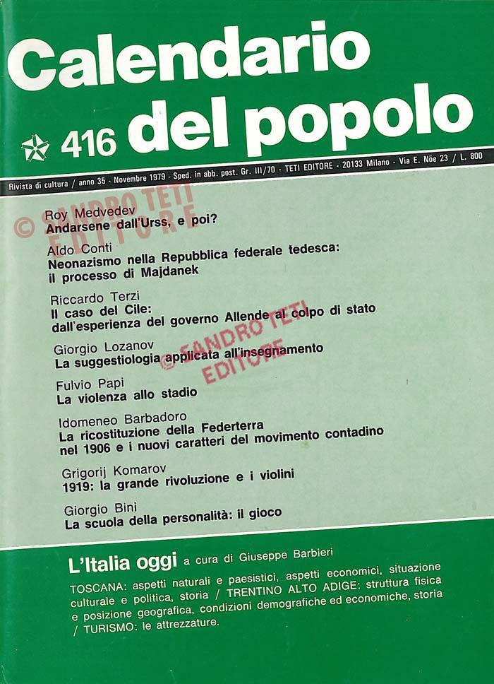 Calendario Del 1979.Il Calendario Del Popolo N 407 1979 Il Calendario Del