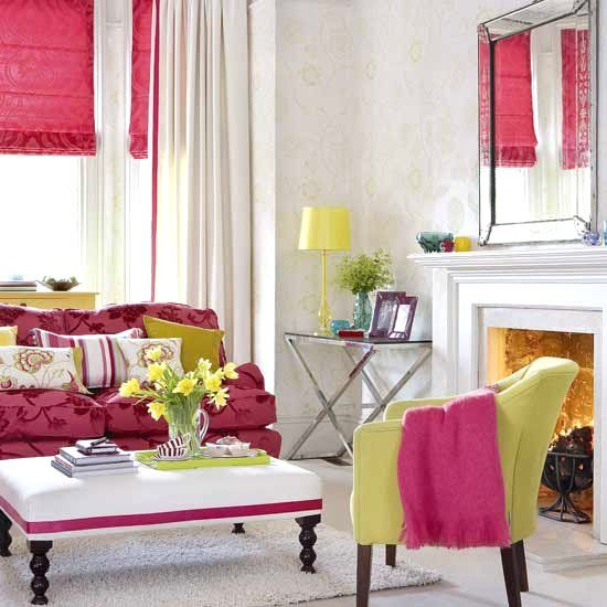 Splashing fresh! Bold colors for spring! For the Home - wohnzimmer grun rosa