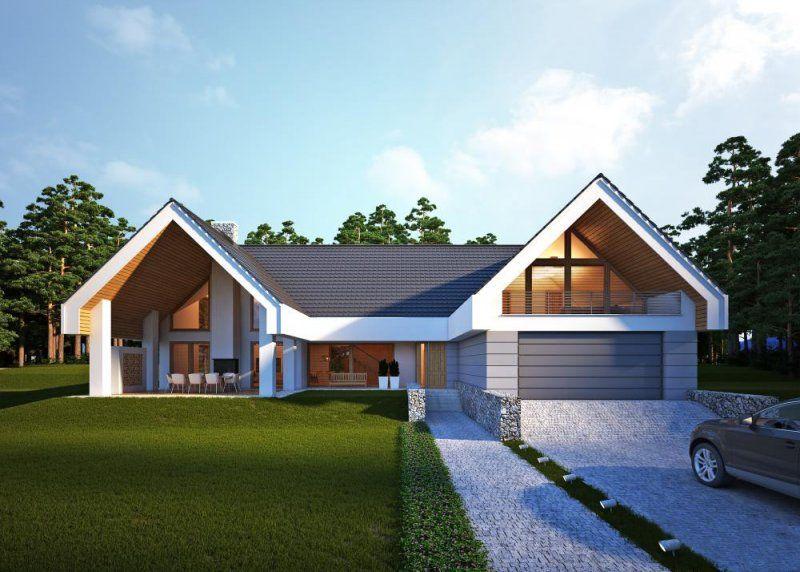 nowoczesny i bardzo komfortowy jednorodzinny budynek. Black Bedroom Furniture Sets. Home Design Ideas
