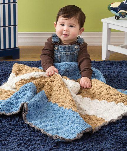 Baby Shells Blanket Free Crochet Pattern In Red Heart Yarns