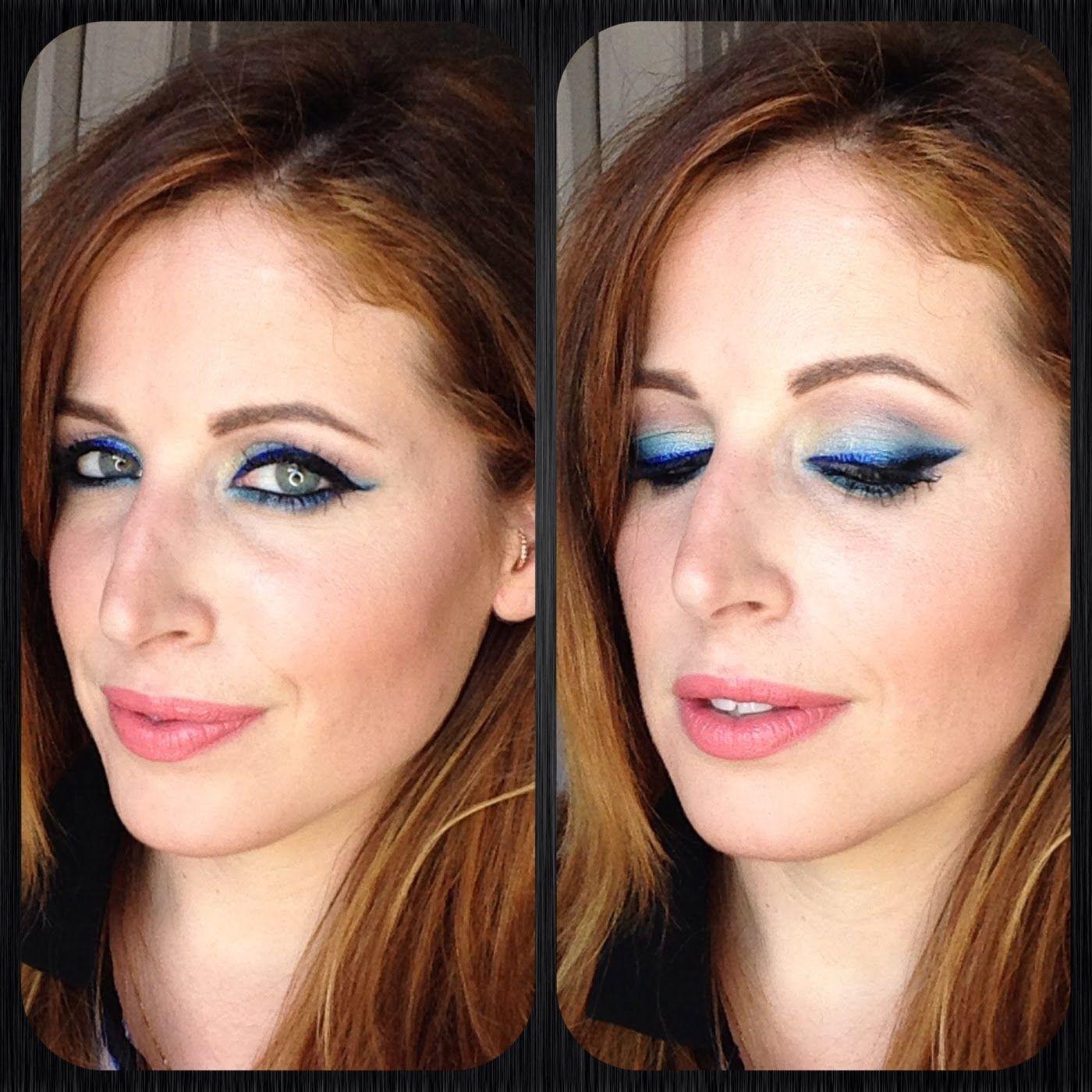 Makeup Tutorial Trucco Eyeliner BLU Ombre' Capelli e