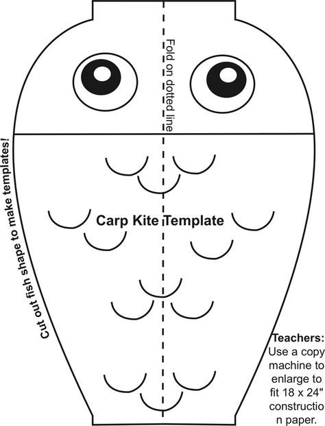 CARP KITE TEMPLATE Japan Pinterest Kite template, Carp and Kites - kite template