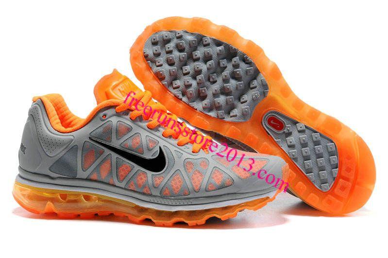 d7a448250fca Mens Nike Air Max 2011 Wolf Grey Black Orange Varsity Maize Sneakers   Orange  Womens  Sneakers