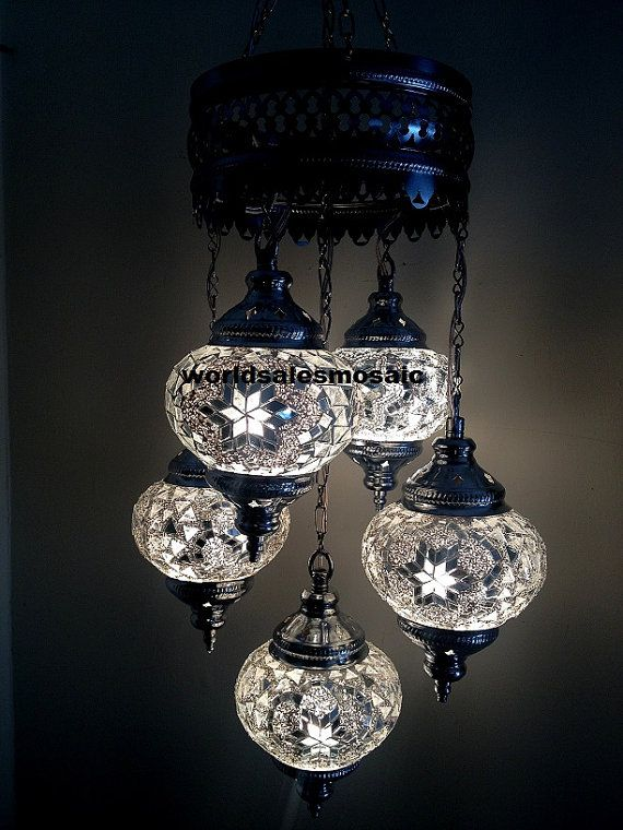 5 ball turkish moroccan hanging glass mosaic chandelier lamp 5 ball turkish moroccan hanging glass mosaic chandelier lamp lighting 110 240v on etsy aloadofball Image collections