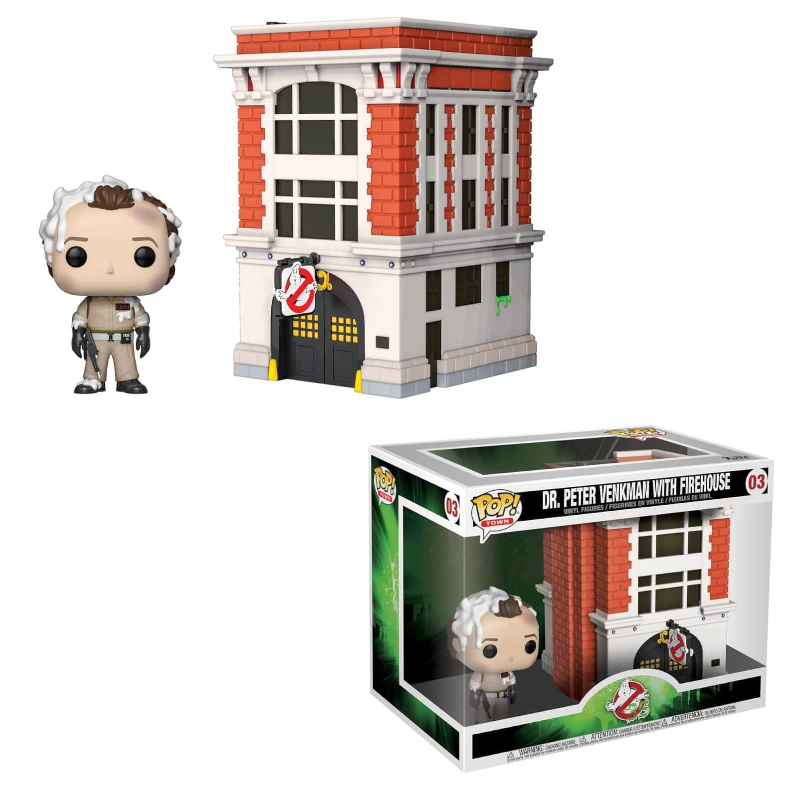 Town Peter with Firehouse Pop Vinyl--Ghostbusters Pop