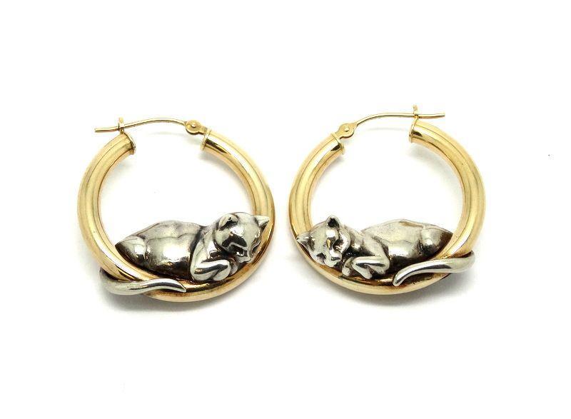 STAINLESS STEEL HOOP earrings  Hoop Earrings Silver Color 3.25 inch Hoop Earrings