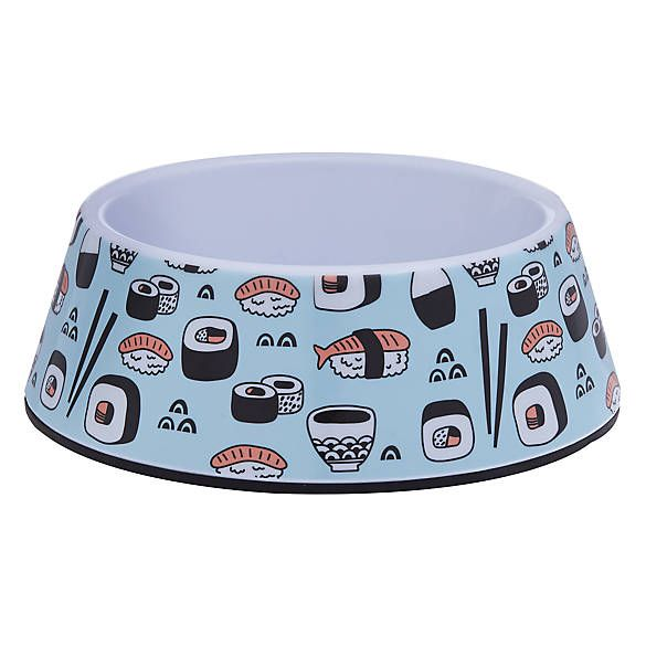 Whisker City® Sushi Cat Bowl cat Food & Water Bowls