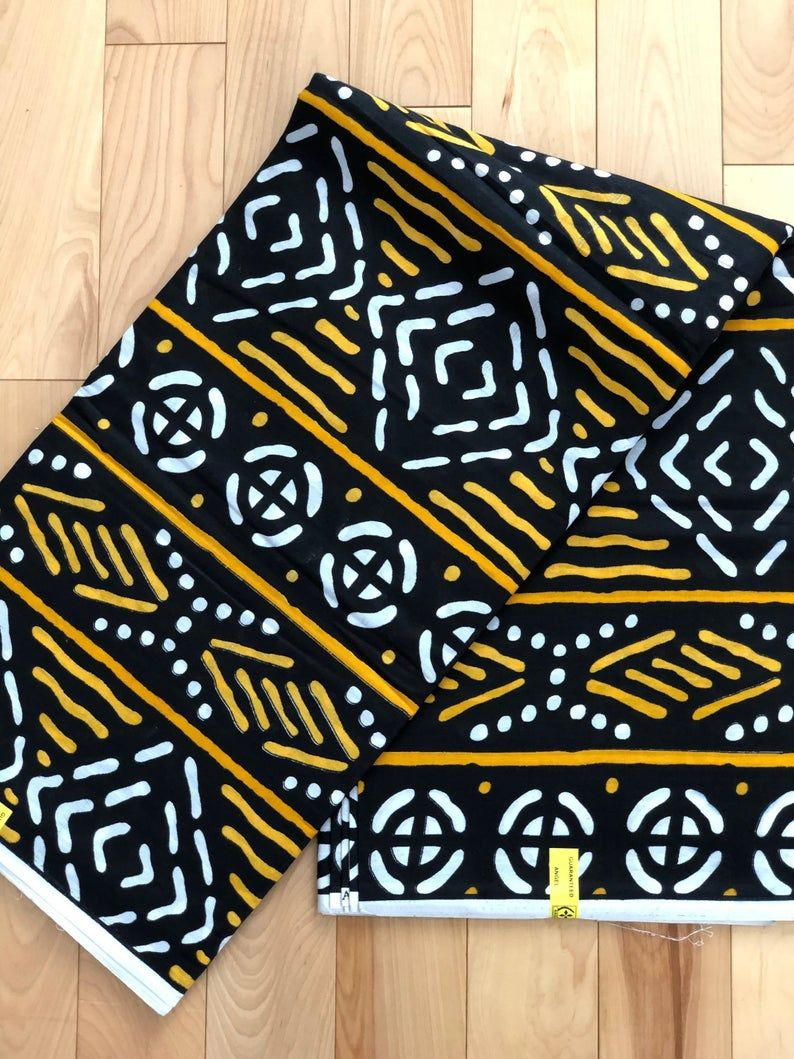100/% Cotton sold by the yard African Print Fabric from Mali