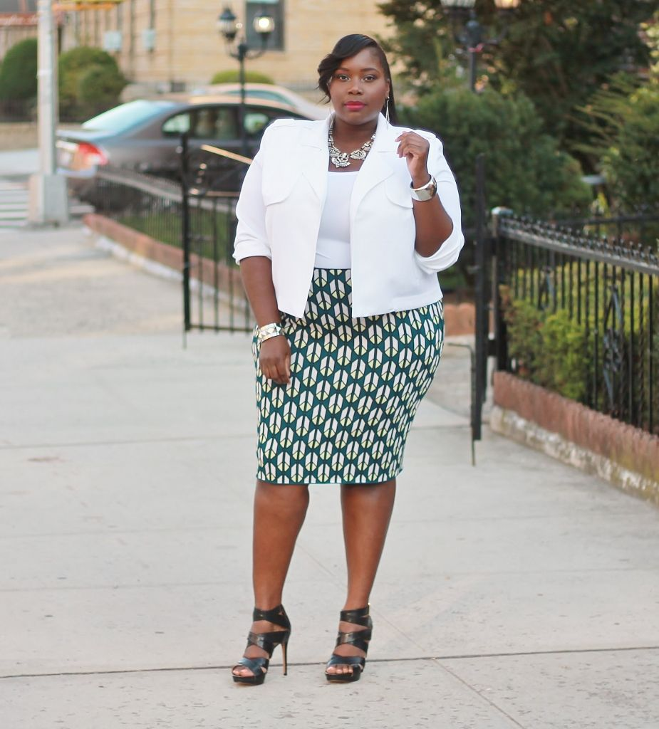 classy & sophisticated in rachel roy plus size jacquard skirt