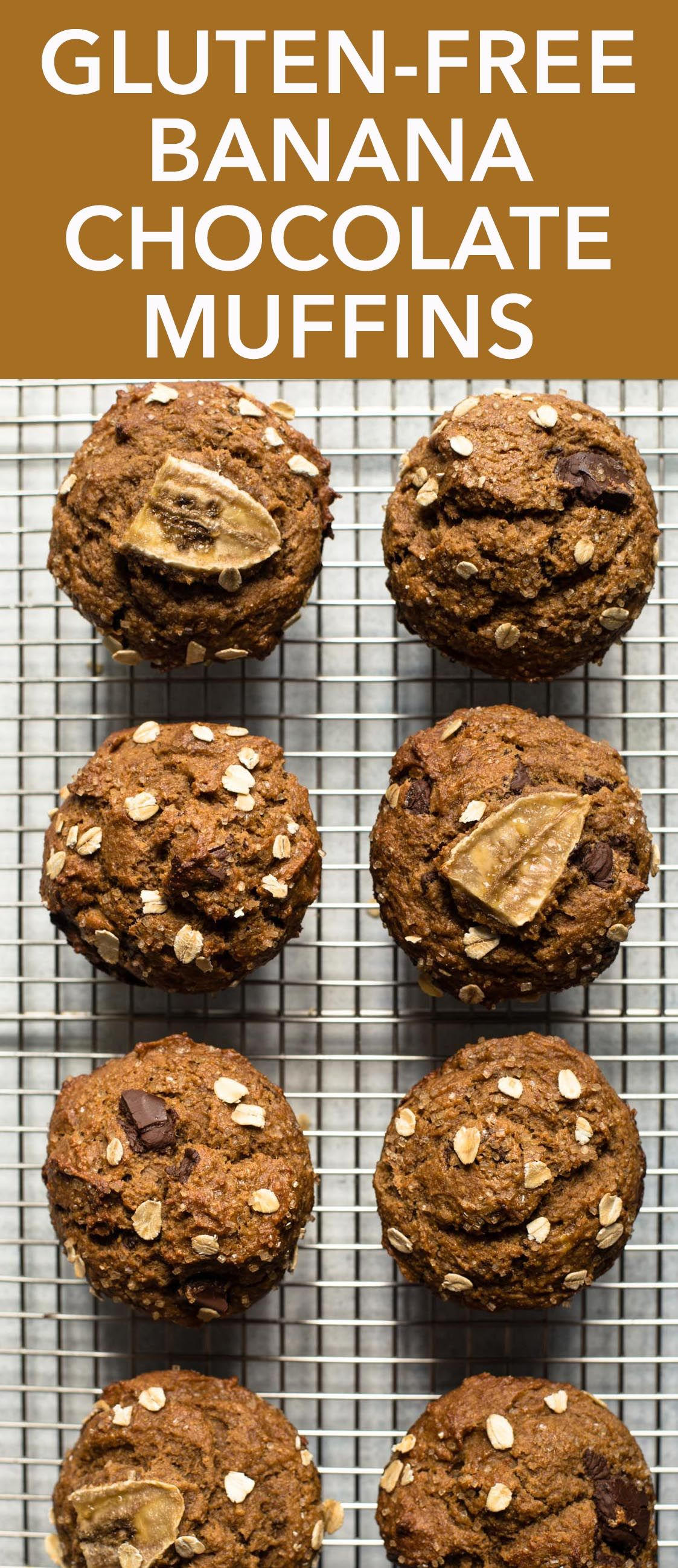 Glutenfree oat flour banana chocolate muffins recipe
