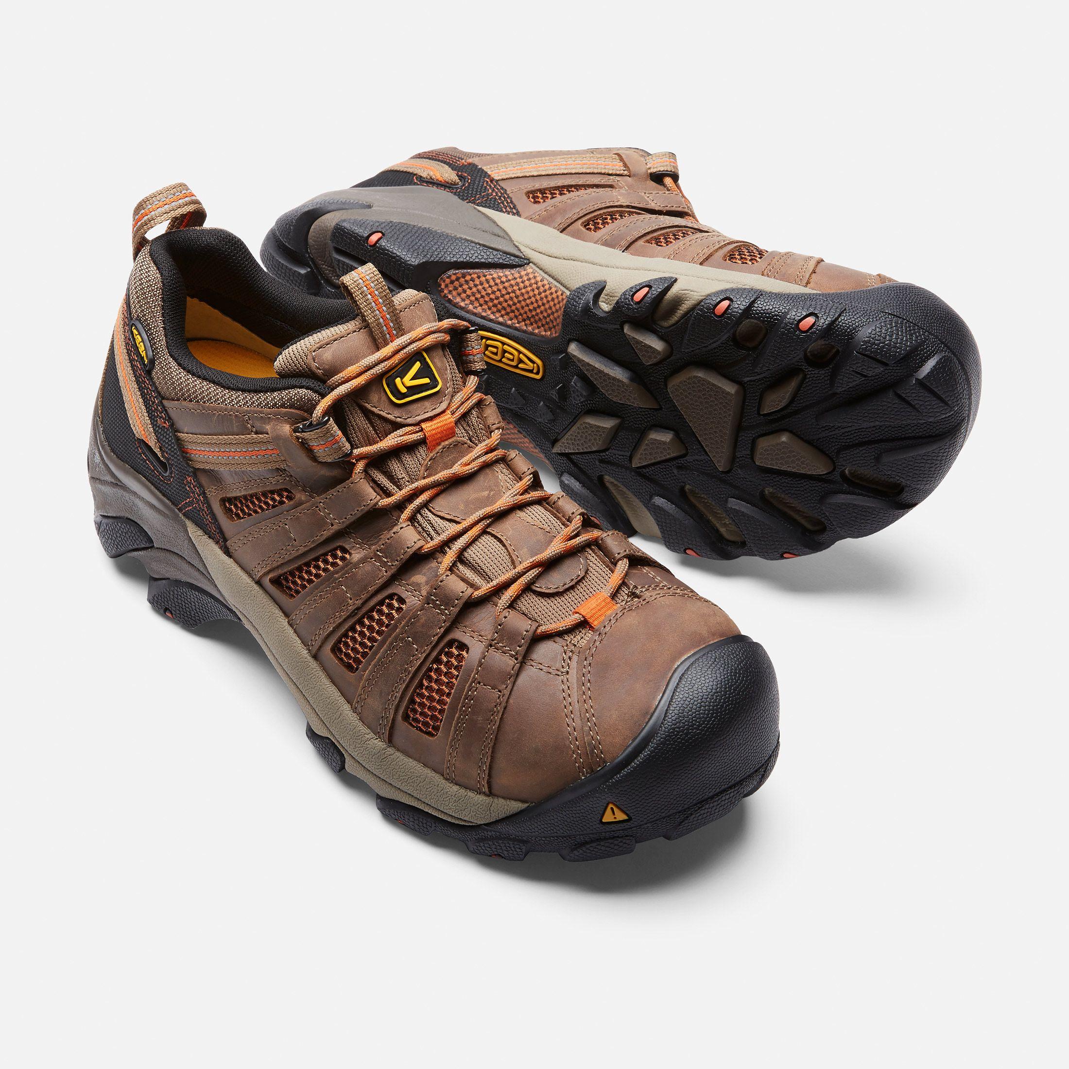 Keen Men's Flint Low (Steel Toe) Shoes Size 7.5 Wide, In